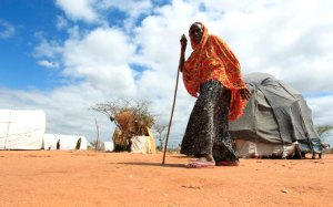ASomali woman flees drought. Reuters/Thomas Mukoya